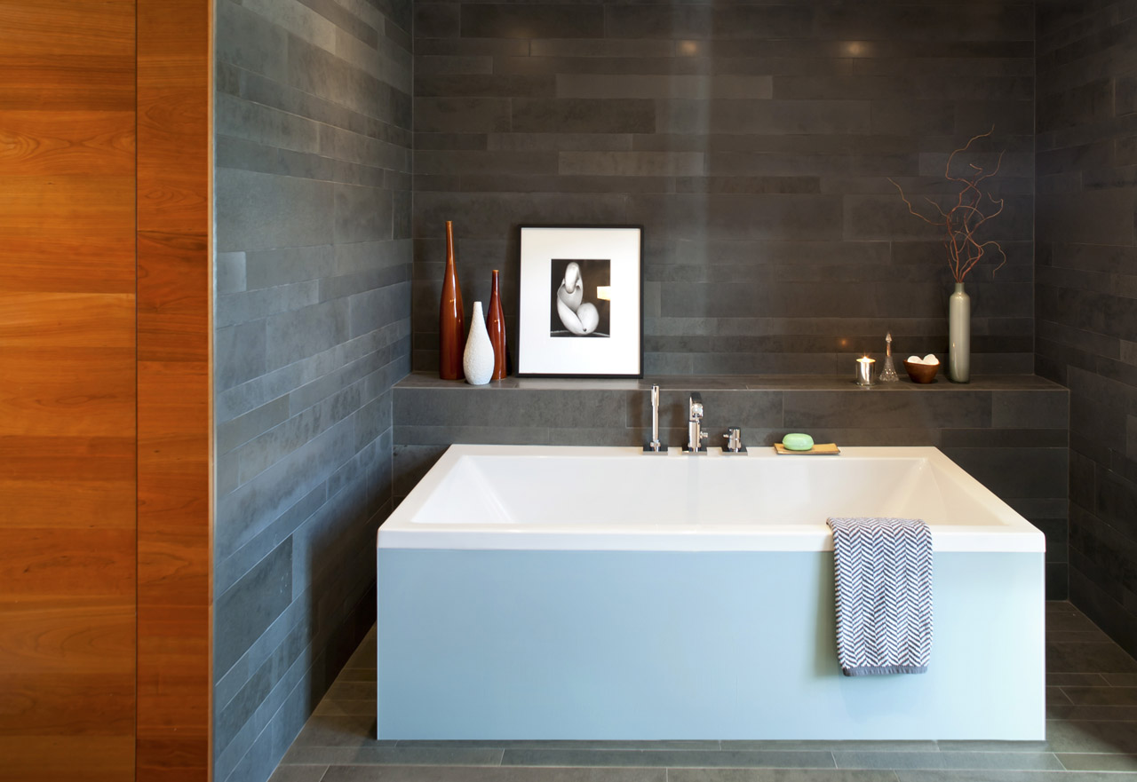 A bathroom sink in a Whistler home