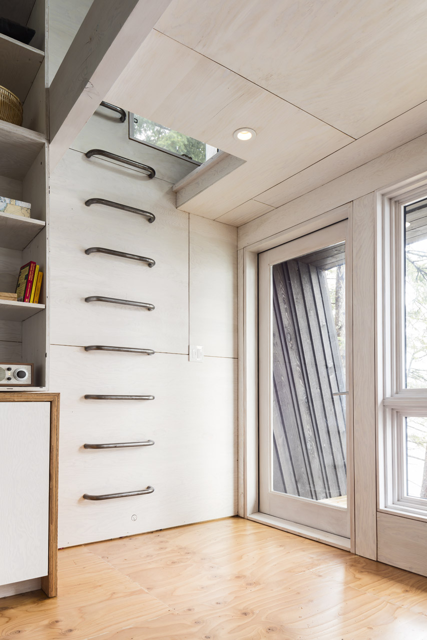 Interior ladder inside cabin on Valdez