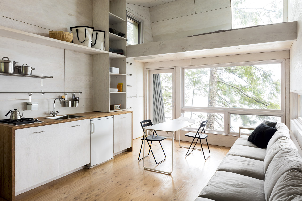 Interior living space of cabin on Valdez